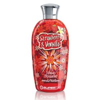 507480 Supertan STRAWBERRY & VANILLA Бронзатор с экстрактом из конопли, 200 мл.